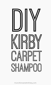 How Good Is The Rug Doctor Homemade Kirby Foaming Carpet Shampoo Recipe Munchkins And The