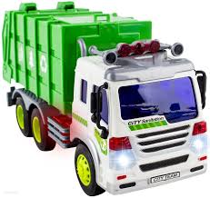 amazon com wolvol friction powered garbage truck toy with lights
