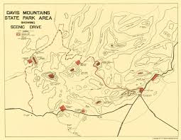 Map Of Mountains In United States by Old State Map Davis Mountains State Park Texas 1935