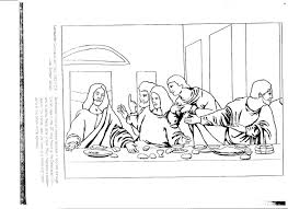 free coloring page last supper