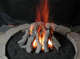 Ceramic Firepit Fancy Plush Design Outdoor Pit Logs Gas Log Set Grill Ideas