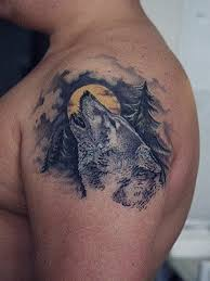 wolf shoulders tattoos moon meaning pictures designs