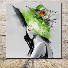 Wall Art For Living Room by Online Get Cheap Oil Painting Abstract Hat Aliexpress Com