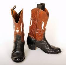 womens black moto boots cowboy boots black brown ca 1930s