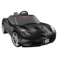 corvette power wheels power wheels 12v deluxe corvette black fisher price http