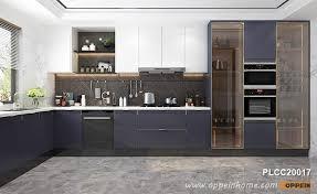kitchen cabinets modern modern navy blue white lacquer kitchen cabinet plcc20017
