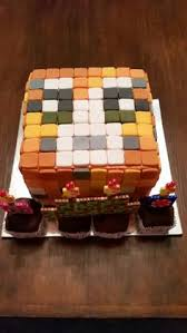 handmade edible fondant minecraft iballistic squid birthday cake