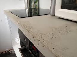 plan de travail cuisine beton plan de travail béton brut de décoffrage