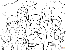 israelites cross the red sea coloring page free printable