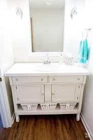 Powder Room Sink Vanity How To Repurpose A Sideboard Into A Sink Vanity In My Own Style