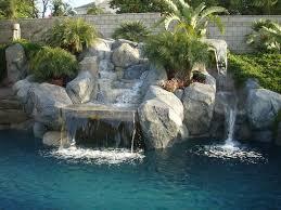 pool mind blowing backyard landscpaing decoration using black