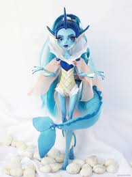13 wishes lagoona vaporeon custom lagoona blue 13 wishes doll ooak by
