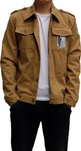 amazon black friday anime attack on titan costume recon corps brown long jacket men l aovei