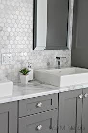 Ensuite Bathroom Furniture Formica 180fx Calacatta Marble Laminate Countertop Hexagon Mosaic