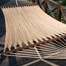 prime garden two point tight weave caribbean polyester hammock