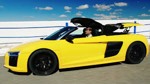 Audi R8 Yellow 2016 - 2017 audi r8 spyder official trailer youtube