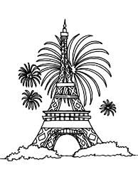 eiffel tower firework coloring download u0026 print