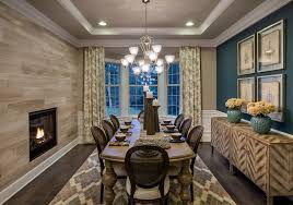 dining room with metal fireplace u0026 carpet in apex nc zillow