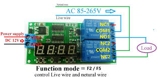 dc 12v 2 channel multifunction delay timer module delay relay
