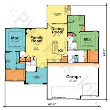 one floor plans with two master suites one dual master house plans home act