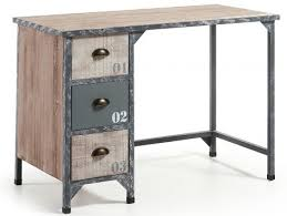 bureau metal et bois bureau metal bois bureau design bois et m tal jugend by drawer for