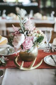 Wedding Table Centerpiece 84 Ways To Use Antlers For Your Rustic Wedding Deer Pearl Flowers