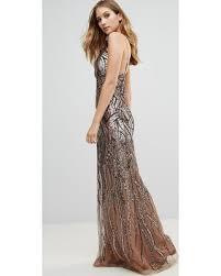 ombre maxi dress deal alert 36 city goddess ombre sequin maxi dress gold