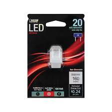 feit 20 w lumens 160 clear g8 3000 k led light bulb g8 led led