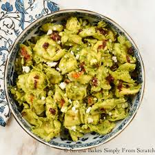 cold pasta dish tortellini pesto pasta salad serena bakes simply from scratch