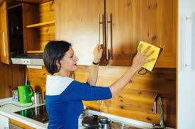 how to clean laminate cabinets with vinegar the best ways to clean grease from kitchen cabinets