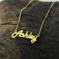 personalized gold jewelry personalized gold color name necklace letter necklace retro stylish