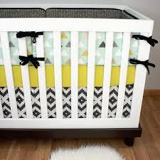 Gray And Yellow Crib Bedding Modern Boy Cribset Gray Mint Cribset Mint Crib Bedding