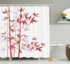 details about bamboo tree print asian japanese style decor clean bamboo tree print asian japanese style decor clean modern shower curtain set