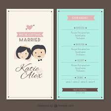 wedding menu template flower wedding set vector eps format