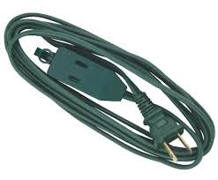 9 tree light extension power cord 16 2 3 outlet tap
