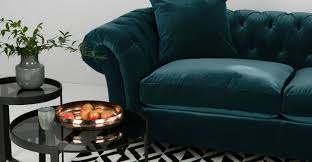 black velvet chesterfield sofa bardot 3 seater chesterfield sofa ocean blue velvet made com