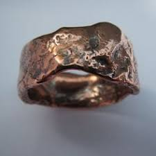 mens rustic wedding bands men s wedding band mountain range silver and copper wedding band