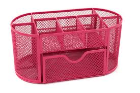 Pink Office Furniture by Amazon Com Mesh Desk Organizer Office Supply Caddy Drawer With