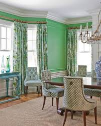 mint green wall color for formal dining room with glass chandelier