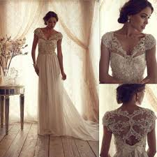 vintage lace wedding dress gorgeous cbell vintage lace wedding dress 2045662 weddbook