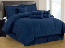 California King Comforter Sets On Sale 7 Pc Solid Navy Blue Micro Suede Comforter Set Cal King Size New