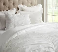hadley ruched duvet cover u0026 sham pottery barn