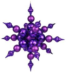 shatterproof radical 3 d snowflake ornament purple