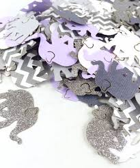 purple elephant baby shower decorations purple gray chevron elephant confetti baby shower elephant theme