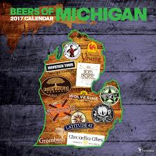 Michigan Breweries Map by 2017 Beer Labels Of Michigan Wall Calendar Tf Publishing