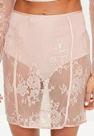 lace skirt pink insert lace skirt missguided