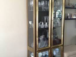 brass and glass curio cabinet for sale madison nj patch