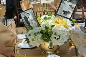 ideas 50th wedding anniversary table decoration ideas 50th