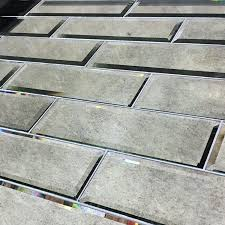 tile bartile mirrored subway tiles backsplash kitchen tiles