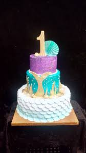 mermaid birthday cake 1st birthday cake